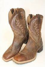 Ariat Mens 11 D 44.5 M Hybrid Rancher Leather Pull On Square Toe Boots 10014070