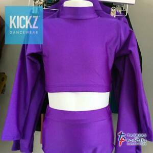 Tappers and Pointers Long Sleeve Turtle Neck Crop Top / Keyhole Back - REDUCED