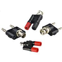 4pcs /set Kit Adapter BNC to dual banana male female RF connector Test converter