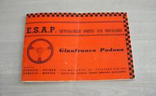 Libretto Preparazioni Sportive Alexander Auto Innocenti - ESAP Autolambro 1967