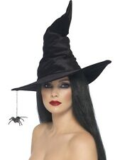 Witch Hat Spider Witches Adult Womens Smiffys Fancy Dress Costume Accessory