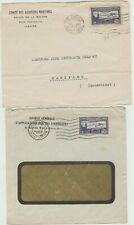 France  1935  2 covers with 1930 Air stamp  SG 482 as postage