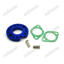 Blue Carb Manifold Intake Pipe Spinner Plate Adaptor Monkey Dirt Bike ATV Quad