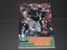 1984 Auburn Tigers FOOTBALL media guide - Bo Jackson on cover - 208 pages