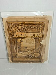 Antique ST. NICHOLAS, Illustrated Magazine for Boys & Girls - May, 1886, Partial