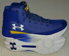 26bd6386 New Under Armour UA Stephen Curry 3 Mens Basketball Shoes ROYAL AND YELLOW  11.5