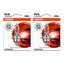2x Peugeot 405 MK2 Genuine Osram Original High/Low Dip Beam Headlight Bulbs Pair