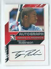 2011 ITG Heroes & Prospects Trayvon Robinson Silver AUTO AUTOGRAPH RC