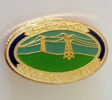 SEAQ Social Bowling Club Badge Pin Lawn Bowls Power Lines (L14)