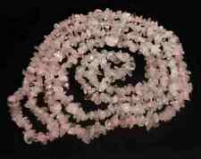 COLLAR de CUARZO ROSA  Precioso y Elegante. Longitud 85-90 cm