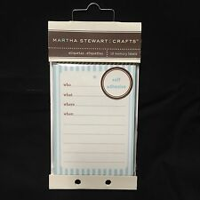 Martha Stewart 18 Self-Adhesive Memory Labels Ocean Acid-Free Who What Where