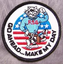 Embroidered Military Patch U S Navy Tomcat NEW Go Ahead Make My Day