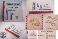 PENNSYLVANIA GRANGE COOK BOOK 1,500 RECIPE 536p 1972/75 candy,canning preserving