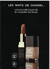 """Publicité Advertising 1979 Cosmétique Maquillage """"Les Mats"""" de Chanel"""