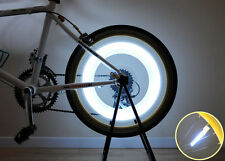 New Super Bright Bicycle Cycling Tire Bike Wheel Spoke LED Safety Light - White