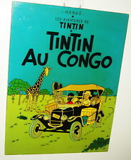 TINTIN AU CONGO SIGN PLAQUE COMIC DOG HERGE BLACK DERROGATORY FRENCH POSTER