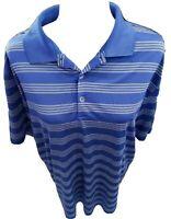 Nike Golf Tour Performance Polo Shirt Men's Large Short Sleeve Dri-Fit Blue