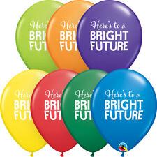 "GRADUATION BALLOONS 10 x 11"" SIMPLY BRIGHT FUTURE QUALATEX LATEX BALLOONS"