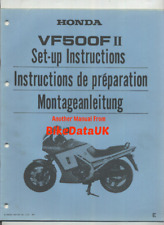 Honda VF500FII PC12 (1984 >>) Genuine Dealers PDI Set-Up Manual VF 500 F F2 CP34