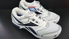 Mens REEBOK Memor Tech Running WHITE and NAVY Running Athetic Shoes Size 9.5