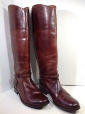 Frye Melissa Seam Tall Brown Leather Women's size 10 Riding Boots $398 FB-132