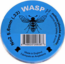 500 x .22 5.6mm WASP DOMED .22 AIR GUN PELLETS AMMO SHOOTING BLUE TIN