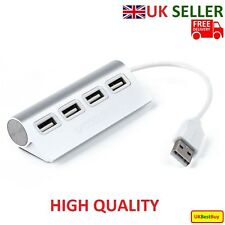Brand New High Speed Aluminum USB 2.0 - 4 Port Splitter Hub Adapter  - UK SELLER
