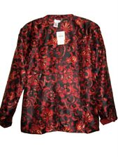 Dinner Occasion Coldwater creek evening red to print Reversible jacket size M 12