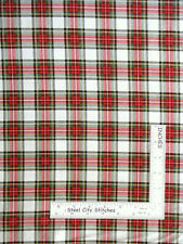 Christmas Plaid Red Cream GD Cotton Fabric Timeless Treasures Cm7059 by The Yard