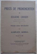 #) ancien précis de prononciation - Eugène CROSTI - Editions musicales Senart