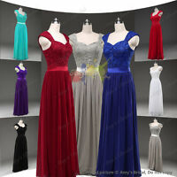 Evening Wedding Chiffon Formal Ball Gown Long Prom Bridesmaid Party Dress