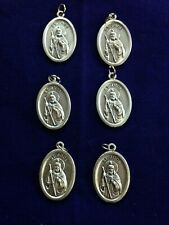"""Saint JUDE1"""" Silver Oxidized Medals from Italy, lot 6 pieces, NEW Pristine"""