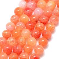 Edelsteine Natürliche Crackle Achat Perlen 8mm Orange Halbedelstein A Grade G760
