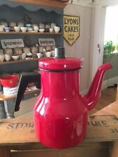 Vintage Dark Red Enamel Tall Coffee Pot – Great Colour – Kitchenalia! –