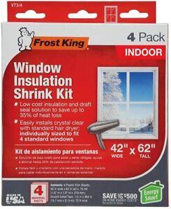 "Frost King  42"" x 62"" inch Indoor Window Film Insulation Shrink Kit 4 pcs  V73/4"
