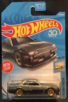 Hot Wheels Custom W/Real Riders Gray Black '82 Nissan Skyline R30 RS Turbo