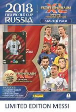 2018 PANINI ADRENALYN FIFA WORLD CUP STARTER PACK ALBUM 18 CARDS + LIONEL MESSI