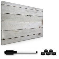 Magnetpinnwand Memoboard 60x40cm Wooden Plank Design Notiztafel abwaschbar