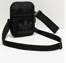adidas Originals Trefoil Festival Crossbody Bag, Black/Black, Unisex, 0022