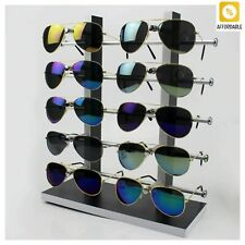 Sunglass Rack Black With White Color Wood Glasses Display Stand Holder Organizer