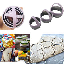 Biscuit Cutter Set(3Pcs)Fluted Round Cookie Cutters With Handle, Baking Tool USA