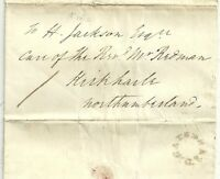 * 1835 1d RATE UDC GATESHEAD LETTER JOHN COLLINSON AT KIBBLESWORTH TO KIRKHARLE