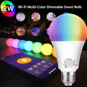 WiFi Smart LED Light Bulb 12 W(100W) 1100Lm A21 RGBCW Dimmable Alexa/Google/Siri