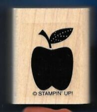 APPLE DOTS FRUIT STEM LEAF Gift Tag Fun Card Stampin' Up! Teacher RUBBER STAMP