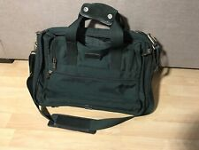 TUMI Nylon Briefcase Laptop Messenger Bag Green