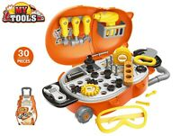 Childrens 30 Pcs Tool Bench PlaySet Work Shop Tools Kit Boys Kids Workbench Toy
