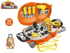 Childrens 30 Pcs Tool Bench PlaySet Work Shop Tools Kit Boys Kids Workbench Toy