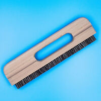 11 inch Long Wallpaper Smoothing Brush Flat Tool, Bristle Brush with Wood Handle