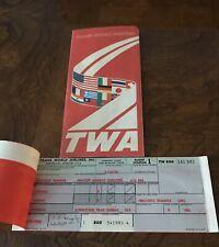 TWA Ticket Folder With Ticket, 1978