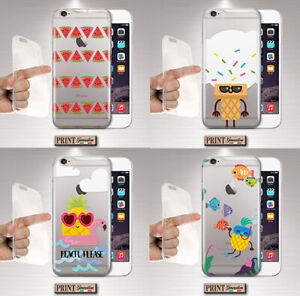 Cover For , Xiaomi, Clear, Silicone, Soft, Fruit, Ice Cream, Summer, Cute